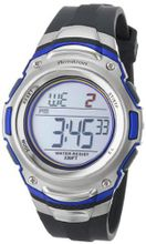Armitron Sport 408108BLU Silver-Tone Stainless-Steel and Blue Digital Chronograph