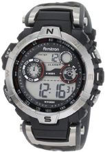 Armitron Sport 408231RDGY Silver-Tone and Black Chronograph Digital