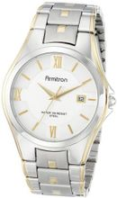 Armitron 20/4413SVTT Two-Tone Bracelet and Silver Dial Dress