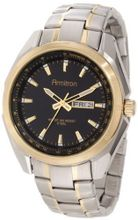 Armitron 20/4835BKTT Black Dial Day-Date Two-Tone Bracelet