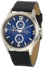 Armitron 20/4858BLSVBL Stainless Steel and Black Leather