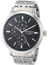 Armitron 20/4950BKSV [Amazon Exclusive] Multi-Function Black Dial Silver-Tone Bracelet