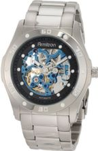 Armitron 204406BISV Automatic Silver-Tone with Black and Blue Accents Dress
