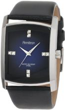 Armitron 204604DBSVBK Dress Swarovski Crystal Accented Silver-Tone Black Leather Strap