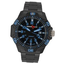 Armourlite Blue Caliber Series Tritium Black PVD Band