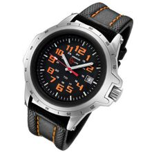 Armourlite ColorBurst Orange Tritium Leather Band