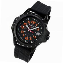Armourlite ColorBurst Shatterproof Scratch Resistant Glass Orange Tritium 10 yr battery w/ Black Rubber Band AL216-R
