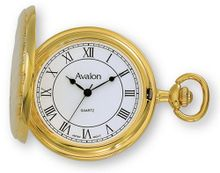 Avalon Classic II Series Gold Tone Covered Pocket with Chain # 1442