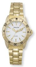 Avalon Classic Sport Gold-Tone with White Dial # 4300-4