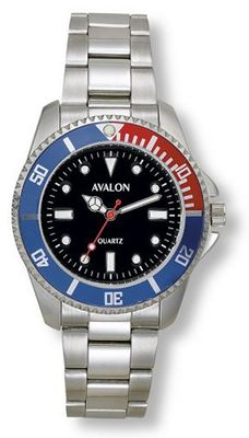 Avalon Classic Sport Silver-Tone with Black Dial # 4302-3