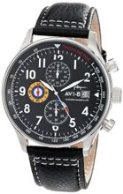 AVI-8 AV-4011-02 Hawker Hurricane Analog Japanese-Quartz Black