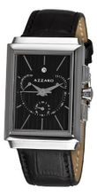 Azzaro AZ2061.13BB.000 Legand Rectangular Chronograph Black Dial and Strap