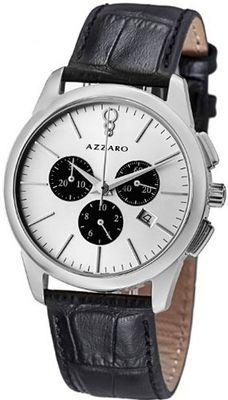 Azzaro New Legend Round Silver Dial Swiss Made Chronograph AZ2040.13SB.000