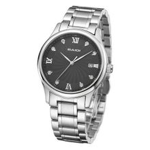 Baidi BBD-72044B Black Crystal Dial Roman Numerals Stainless Steel Bracelet