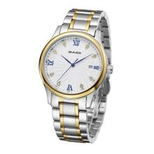 Baidi BBD-72044G Stainless Steel Classic Analog Business Bracelet Golden-Silver