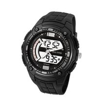 Baidi BBD-AK1280B Analog - Digital Sport Silver-Tone Black Strap Multi-Function -Waterproof