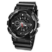 Baidi BBD-AK1383B Sport Analog-Digital Multi-Function Waterproof Black Rubber Strap