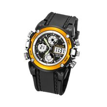 Baidi BBD-AK7110Y Yellow-Tone and Black Rubber Strap Analog-Digital Sport