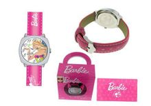 Barbie New with Swarovski Crystals. Deep Pink Band