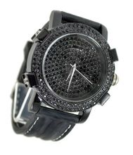 Black on Black Ice Out 58mm Bezel Black Sports Strap