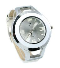 Cannes Fashion Dress Silver Tone & White 40mm Bezel