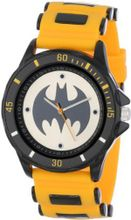 Batman BAT9065 Yellow Rubber Strap Analog