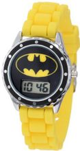 Batman Kids' BAT4048 Yellow Rubber Batman Logo Strap Casual
