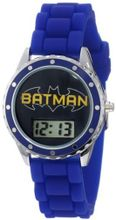 Batman Kids' BAT4063 Batman Logo Blue Rubber Strap