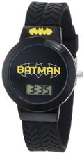 Batman Kids' BAT4065 Batman Black Tire Tread Rubber Strap