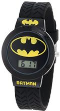 Batman Kids' BAT5041 Batman Black Tire Tread Rubber Strap