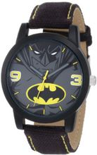 Batman Kids' BAT9040 Batman Black Canvas Strap
