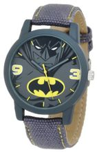 Batman Kids' BAT9041 Grey Canvas Batman Strap
