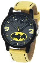 Batman Kids' BAT9043 Yellow Canvas Batman Strap