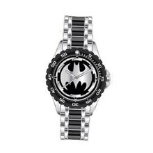 Batman Logo with Black Metal Bracelet Band (BAT8025)