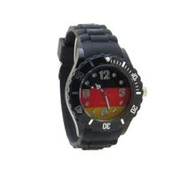 Germany Flag Black Silicone Band