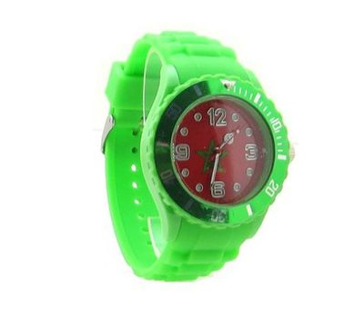 Morocco Flag Green Silicone Band