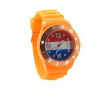 Netherlands Flag Orange Silicone Band