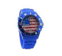 uBC Wear USA Flag Blue Silicone Band