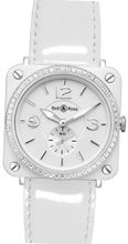 Bell & Ross Aviation Aviation Quartz BR-S-WHITE-CERAMIC-DIAMOND-LS