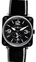 Bell & Ross Aviation Br-S Quartz Midsize BR-S-BLACK-CERAMIC-DIAMONDS-LS