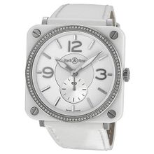 Bell & Ross Aviation Diamond White Ceramic Ladies BRS-98-WCS