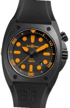 Bell & Ross BR 02 ORANGE Black Steel Case Black & Orange Dial Date
