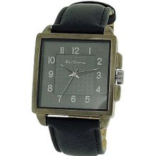 Ben Sherman Analogue Textured Black Dial Black Leatherette Strap BS029