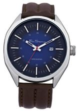 Ben Sherman BS008 Dark Blue and Brown Leather Strap