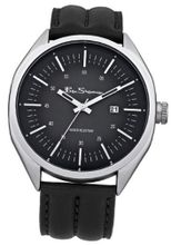 Ben Sherman BS010 All Black Leather Strap