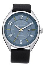 Ben Sherman BS017 Blue and Black Leather Strap