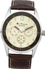 Ben Sherman BS050 Champage and Brown Leather Strap