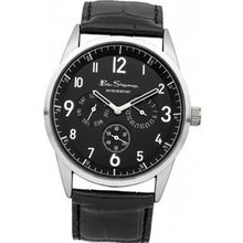 Ben Sherman BS051 All Black Leather Strap