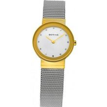 Bering Time 10122-001 Ladies Gold and Silver Classic Mesh