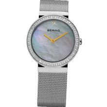 Bering Time 10725-010 Ladies Pearl and Silver